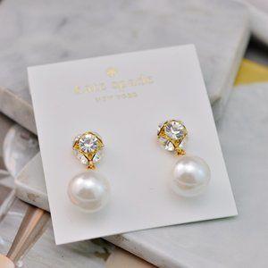 Kate Spade Zircon Inlaid Pearl Stud Earrings